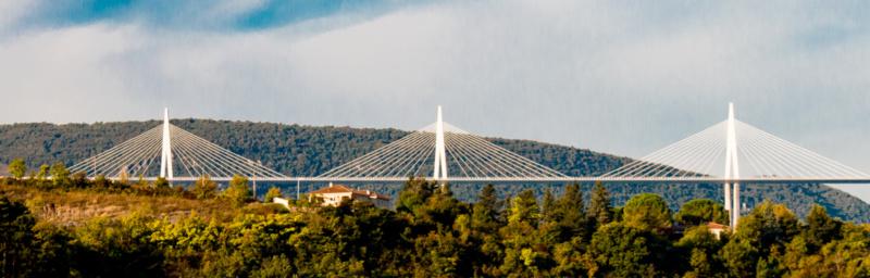 Ein Teil des Viaduc de Millau
