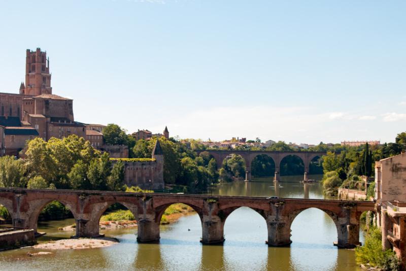 Die Brücken über den Tarn in Albi
