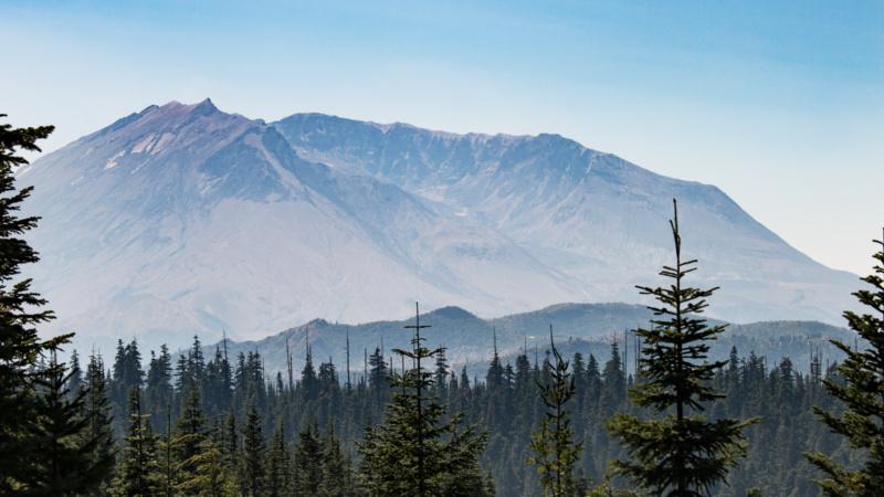 Mount St. Helens von Bear Meadow aus gesehen