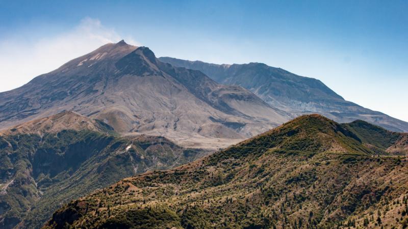 Die Nordflanke des Mount St. Helens