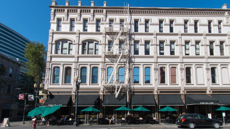 Eines der Cast Iron Buildings in Portland