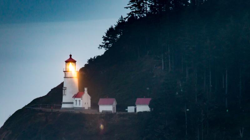 Heceta Head Lighthouse in der Dämmerung