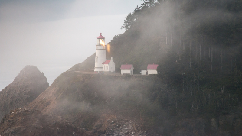 Heceta Head Lighthouse im Nebel