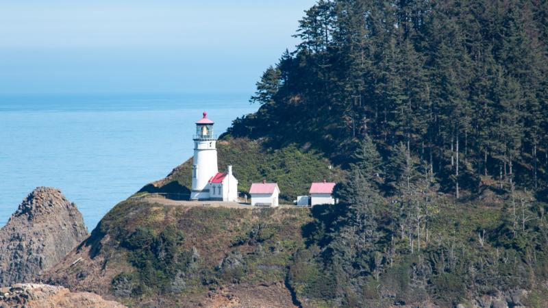 Heceta Head Lighthouse im Sonnenschein