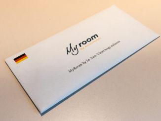 """Begrüßungsschreiben für den """"My Room"""" im Ibis Köln Centrum"""