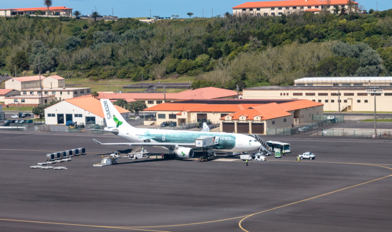 Airbus A330-200 der Azores Airlines mit Pottwal-Lackierung