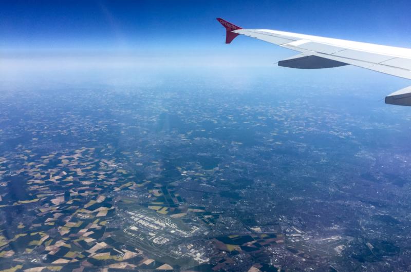 Flughafen Paris Charles de Gaulle (CDG) aus der Luft