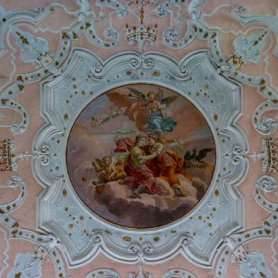 Barockes Deckengemälde im Lindner Hotel Schloss Reichmannsdorf