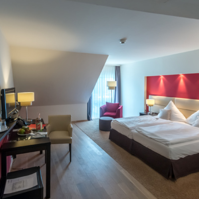 Blick ins Zimmer im Lindner Hotel Schloss Reichmannsdorf