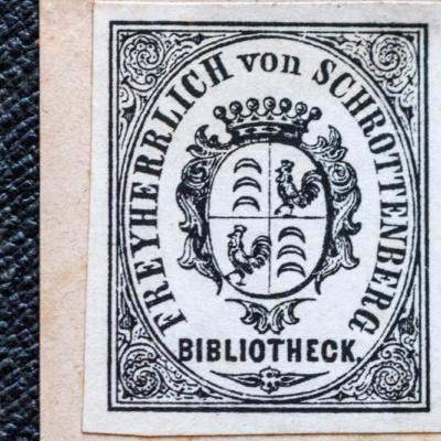 Ex Libris der Freiherrlich von Schrottenberg'schen Bibliothek
