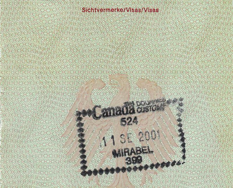 Der kanadische Einreise-Stempel, Foto: Niclas Bocionek