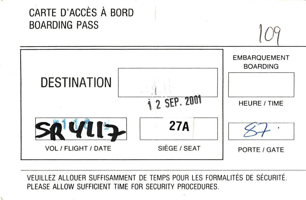 Die handgeschriebene Not-Bordkarte für den Rückflug, Foto: Niclas Bocionek