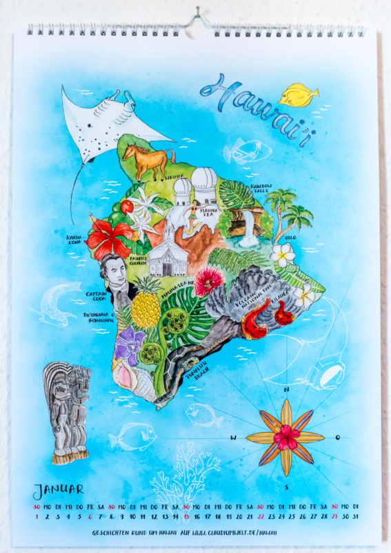 Der Insel-Kalender 2017: Januar - Hawaii