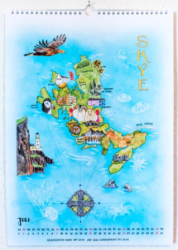 Der Insel-Kalender 2017: Juli - Skye