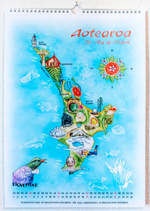 Der Insel-Kalender 2017: November - Nordinsel Neuseeland