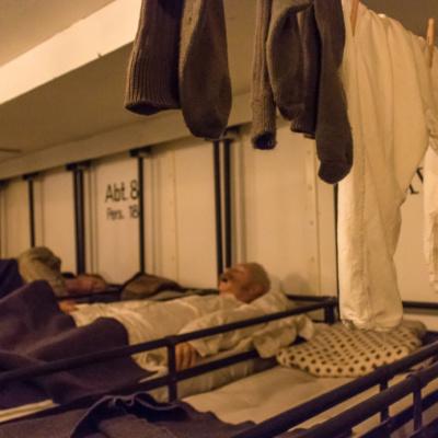 Schlafsaal eines Sczhnelldampfers um 1880