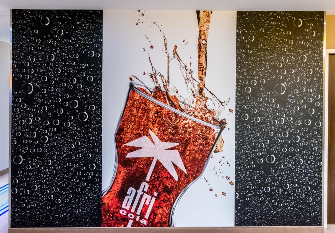 Afri Cola Füllstand auf jeder Etage im Courtyard by Marriott Köln