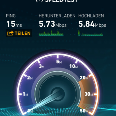 "Bandbreite kostenpflichtiges ""High Speed"" Internet"