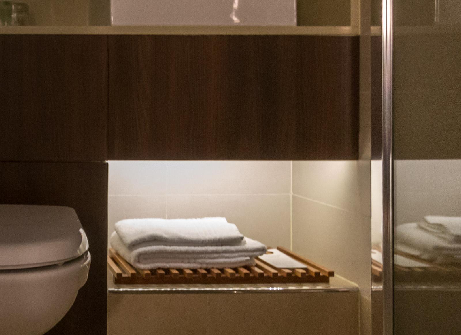 Orientierungslicht Im Badezimmer Im Courtyard By Marriott Köln
