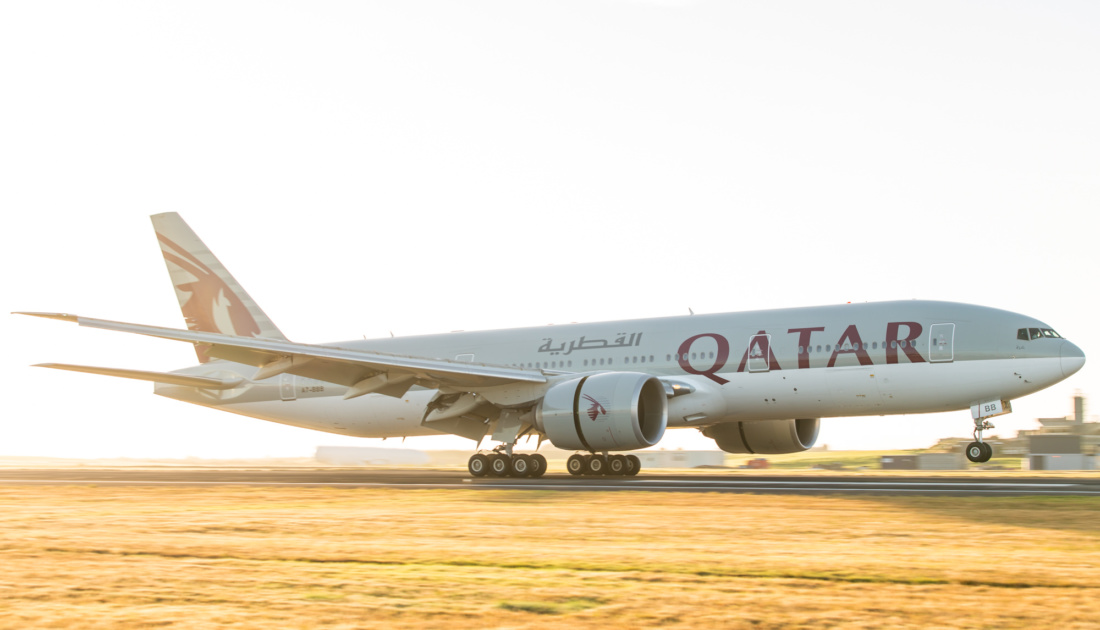 Touchdown in Auckland nach fast 16 Stunden Flugdauer, Foto: Qatar Airways / PhotoNZ Ltd.