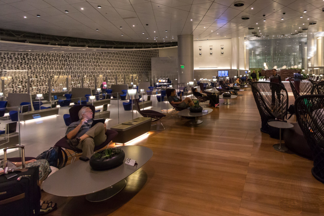 Die Business Lounge von Qatar Airways in Doha