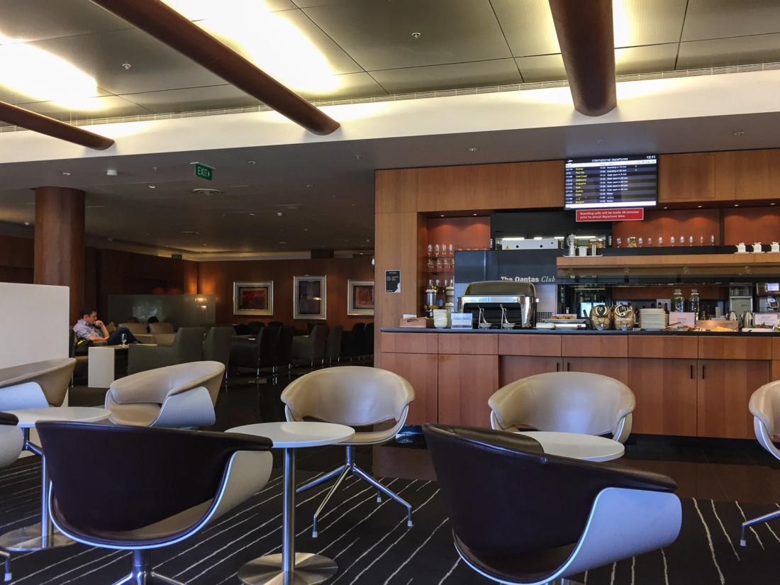 Die Qantas-Lounge in Auckland