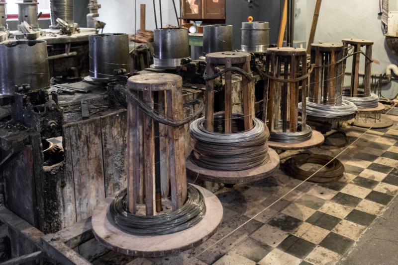 Drahtziehmaschine im Deutschen Drahtmuseum