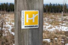 Sauerland Höhenflug Markierung auf der Nordhelle