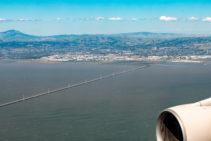 Endanflug auf den Flughafen von San Francisco