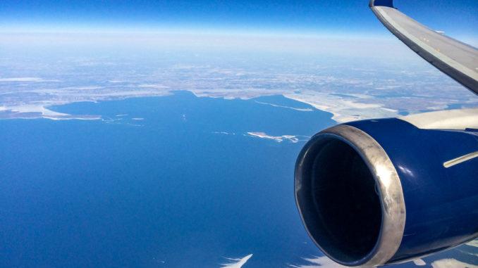 Über dem Lake Erie