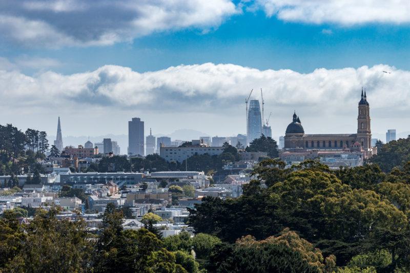 Blick vom Aussichtsturm des de Young Museum auf die Innenstadt von San Francisco