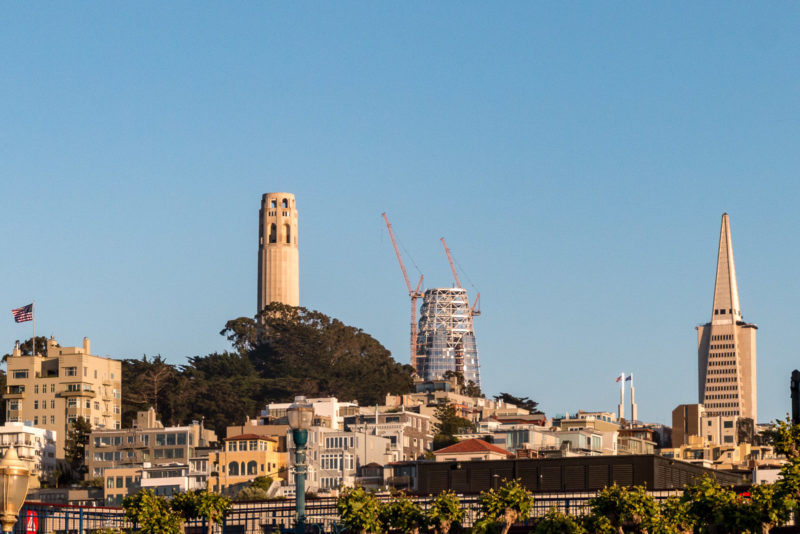Coit Tower, Saleforce Tower und Transamerica Pyramid