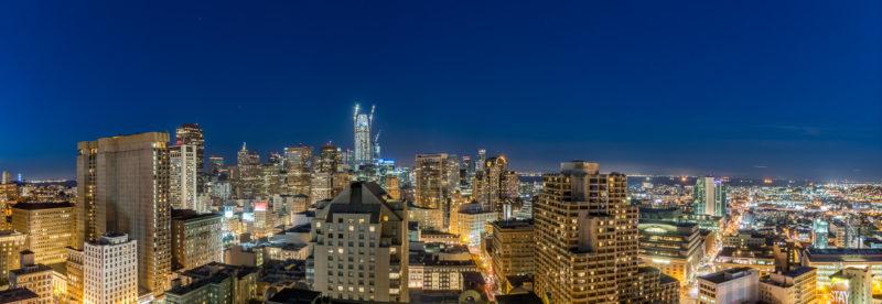 Nächtliches HDR-Panorama von Downtown San Francisco