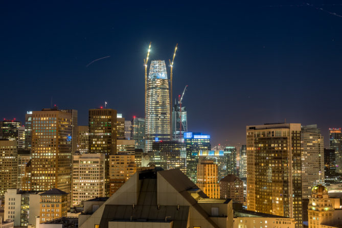 Salesforce Tower in San Francisco im Bau