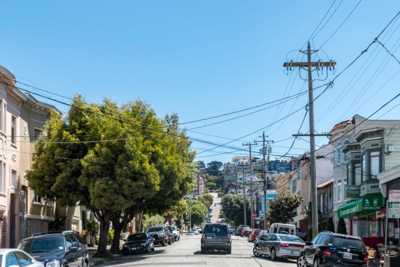 Typische Straßenansicht von San Francisco