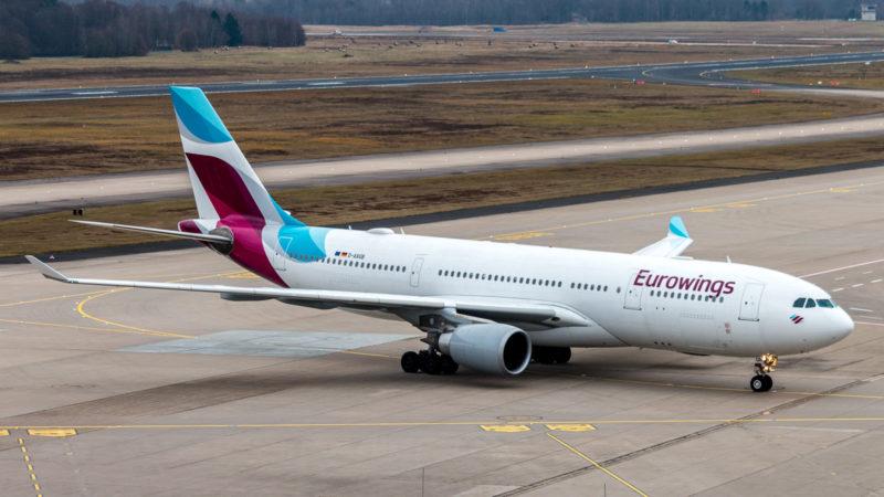 Auf diesem Airbus A330 (D-AXGB) steht Eurowings drauf, ist aber Sunexpress Deutschland drin