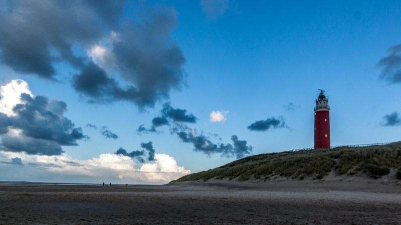 Der Leuchtturm von Texel am frühen Abend