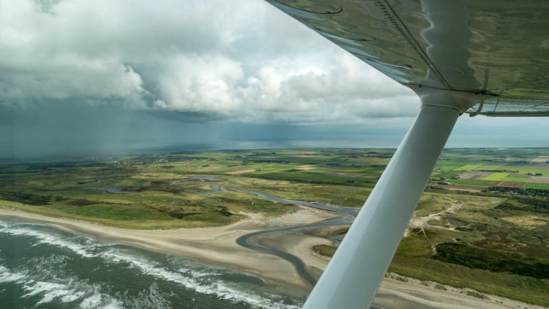 Naturschutzgebiet De Slufter aus der Luft betrachtet