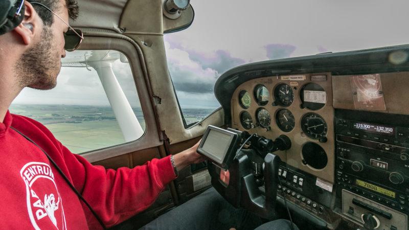 Unser Pilot hat alles im Blick