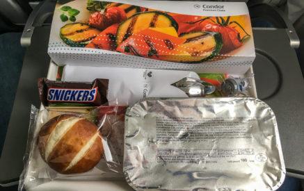 Das Essen auf dem Condor-Flug nach Fort-de-France (FDF)
