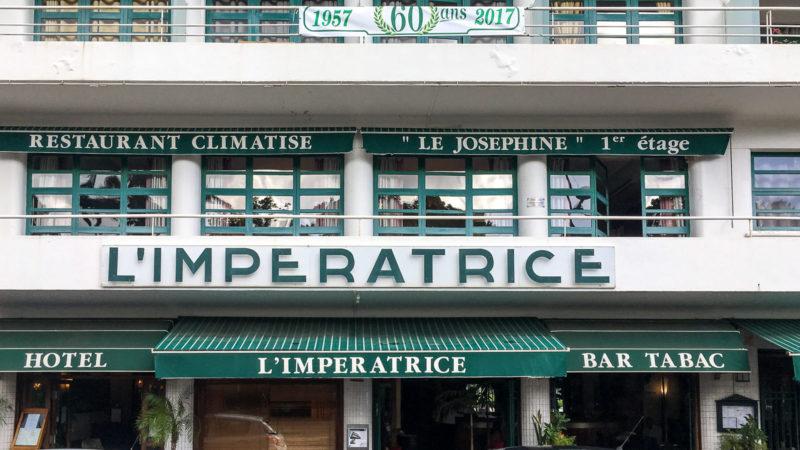 Das Hotel L'Impératrice in Fort-de-France von außen