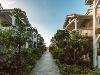 Die Anlage des Hotels Le Bambou