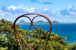 Blick auf Ronde und Caille Island