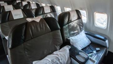Die Sitze in der Saga Class der Icelandair