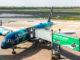 """Mit dieser Boeing 757 (TF-FIU), getauft auf den Namen """"Hekla Aurora"""", wurde der Erstflug der Icelandair von Düsseldorf nach Keflavik durchgeführt"""