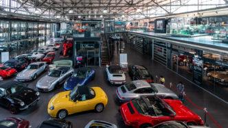 Blick in die Motorworld Köln