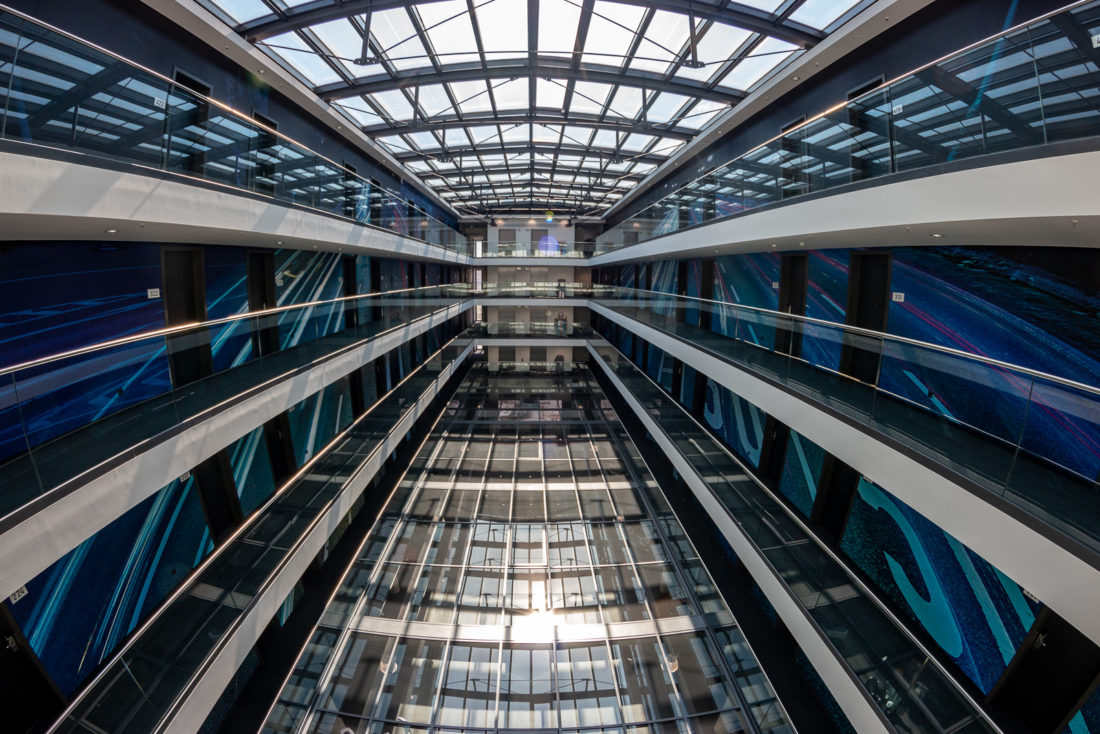 Das Atrium im V8-Hotel Köln