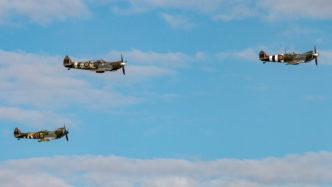 3 x Supermarine Spitfire auf der Air Legend 2019 in Melun-Villaroche