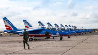 Alpha Jets der Patrouille de France auf der Air Legend 2019 in Melun-Villaroche