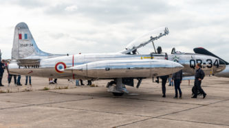 """Canadair CT-133 """"Silver Star"""" (kanadischer Lizenzbau der Lockheed T-33 """"Shooting Star"""") auf der Air Legend 2019 in Melun-Villaroche"""